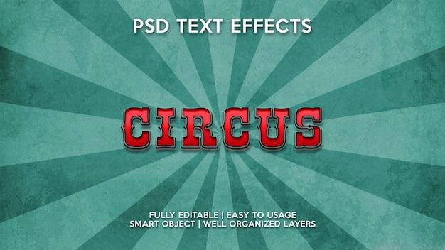 Effetti di testo del circo