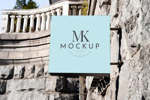 Mockup di design del segno della città Psd Premium