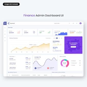 Interfaccia utente del pannello di amministrazione di citymead-finance