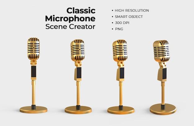 Creatore di scene con microfono classico
