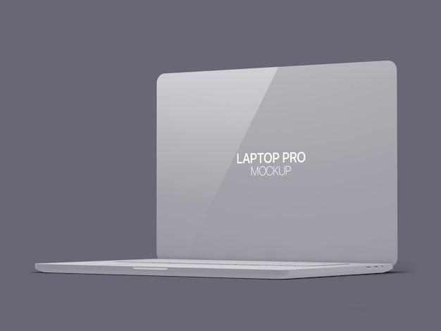 Clay laptop mockup laptop