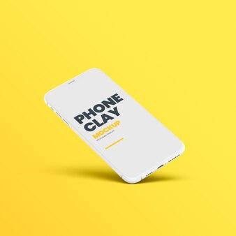 Clay phone device inclinazione mockup