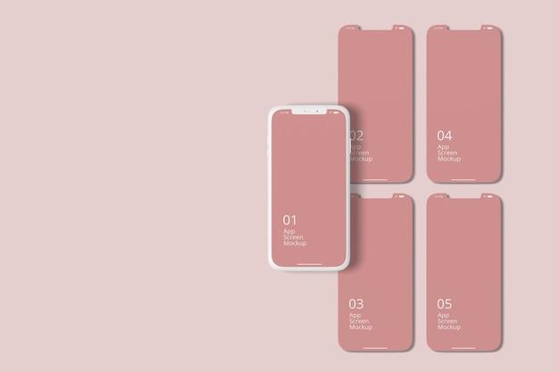 Smartphone in argilla per mockup dello schermo delle app