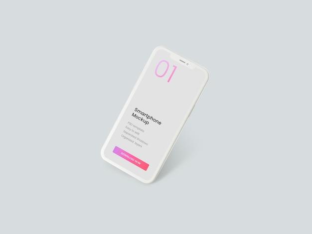 Mockup di smartphone di argilla