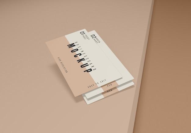 Pulito biglietto da visita psd mockup design