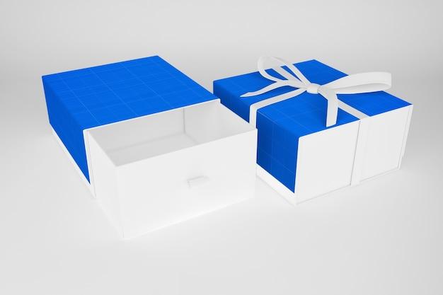 Mockup di scatola regalo pulita