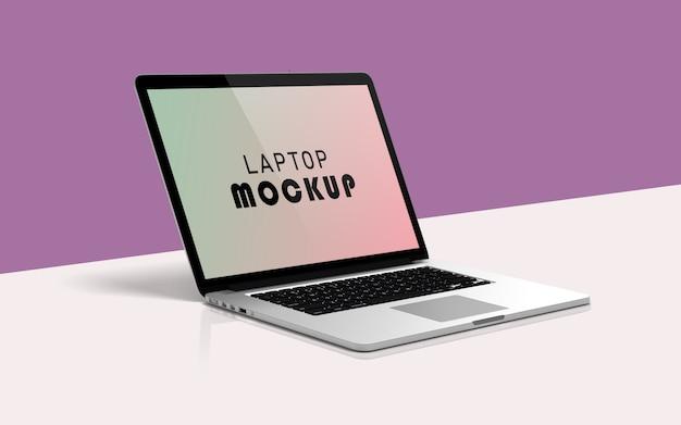 Pulisci il laptop pro mockup