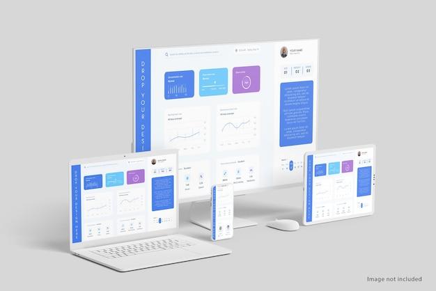 Pulisci il design del mockup di più dispositivi
