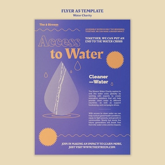 Modello di volantino a5 per acqua più pulita