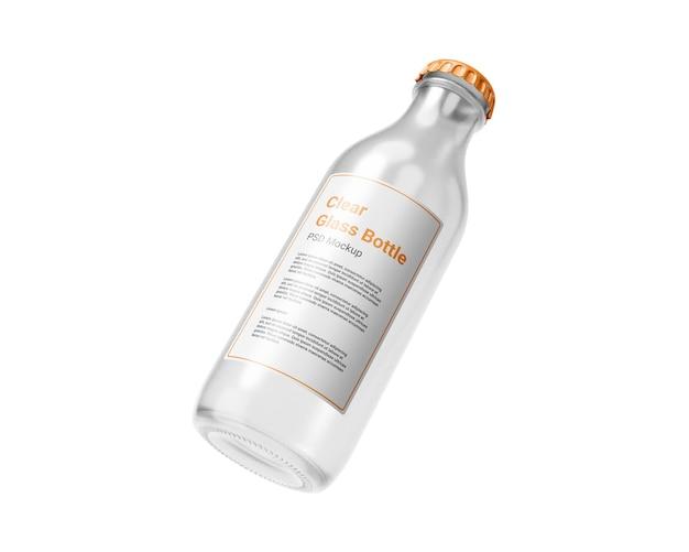 Modello di bottiglia di vetro trasparente
