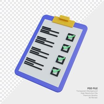 Illustrazione 3d verifica appunti