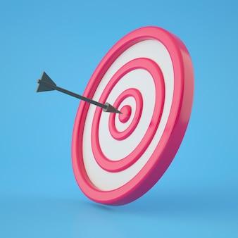 Primo piano sul rendering 3d obiettivo aziendale
