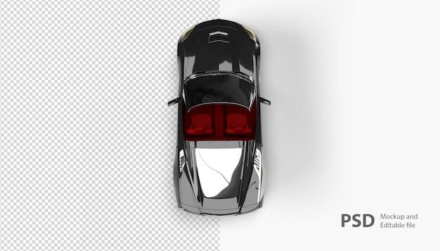 Primo piano su automobile automobilistica isolata
