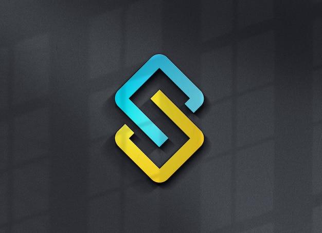 Primo piano sul bellissimo design del logo mockup