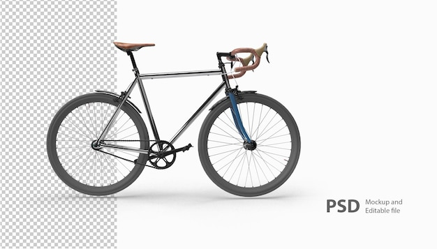 Primo piano in bicicletta in rendering 3d isolato