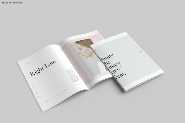 Primo piano sul catalogo delle brochure bifold