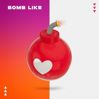 Primo piano su bomb like 3d rendering