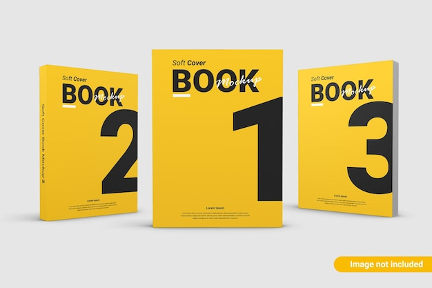 Primo piano sulla copertina del libro mockup design