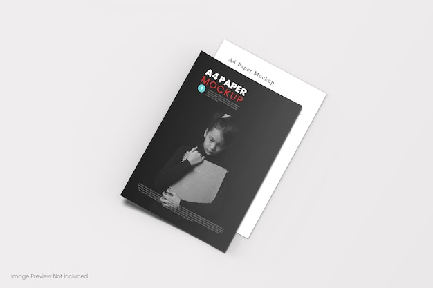 Primo piano sulla copertina del libro mockup isolato
