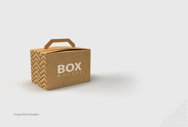 Primo piano sulla scatola isolata