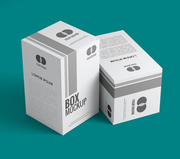 Primo piano sul design del mockup della scatola