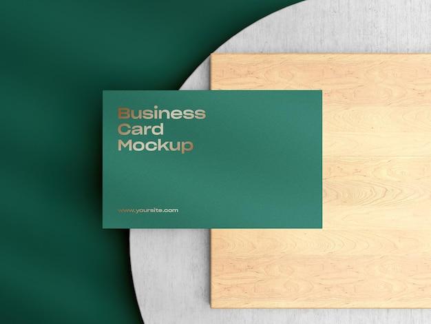 Primo piano su business card mockup design