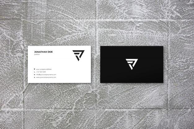 Primo piano su businesscard mockup