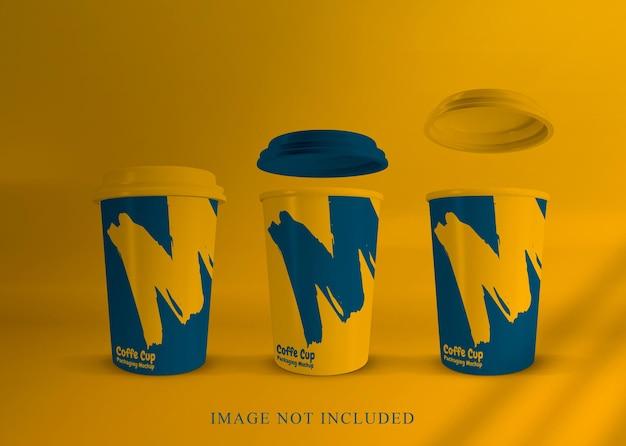 Close up mockup di tazza di caffè