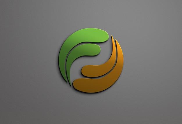 Chiuda in su design mockup logo colorato