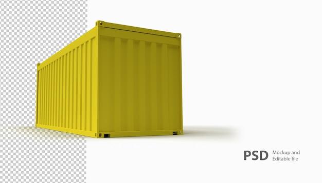Primo piano sul contenitore isolato
