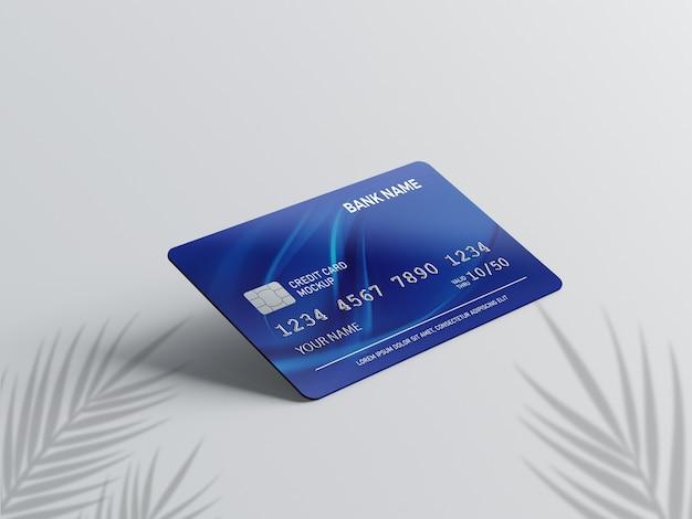 Primo piano su carta di credito mockup