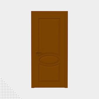 Primo piano sulla porta isolata