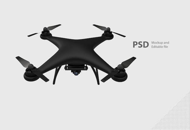 Primo piano su drone isolato