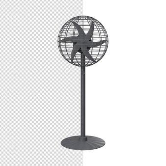 Primo piano sul ventilatore 3d isolato premium ps