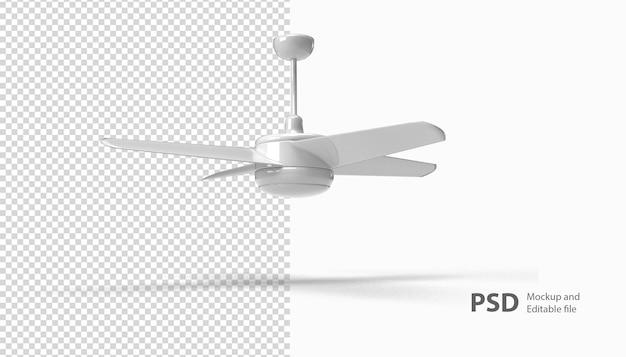 Primo piano su un rendering della ventola isolato