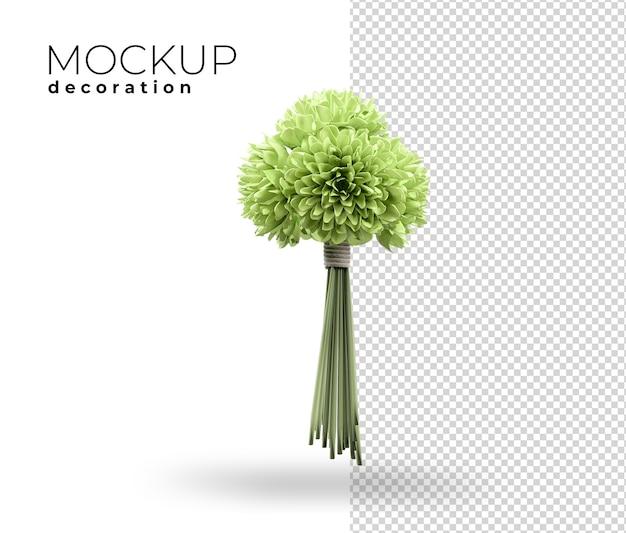 Primo piano sulla decorazione floreale per la casa rendering 3d