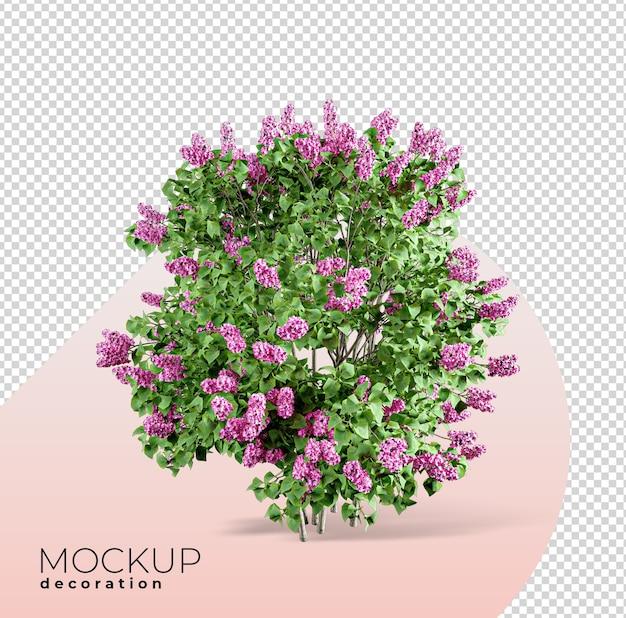 Primo piano sul mockup 3d mockup 3d interni fiore