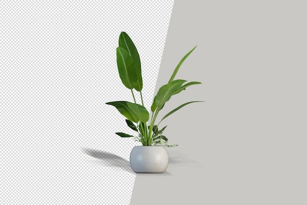 Primo piano sui fiori in vaso interno 3d mockup