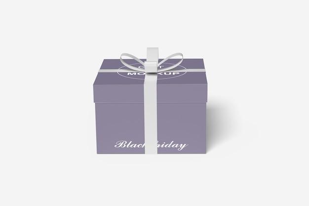 Chiuda in su mockup di scatola regalo isolato