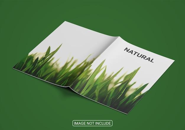Primo piano sul mockup del libro con copertina rigida isolato