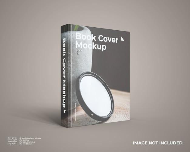 Primo piano sul mockup del libro con copertina rigida