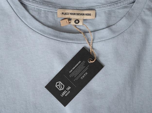 Primo piano sul mockup di tag etichetta