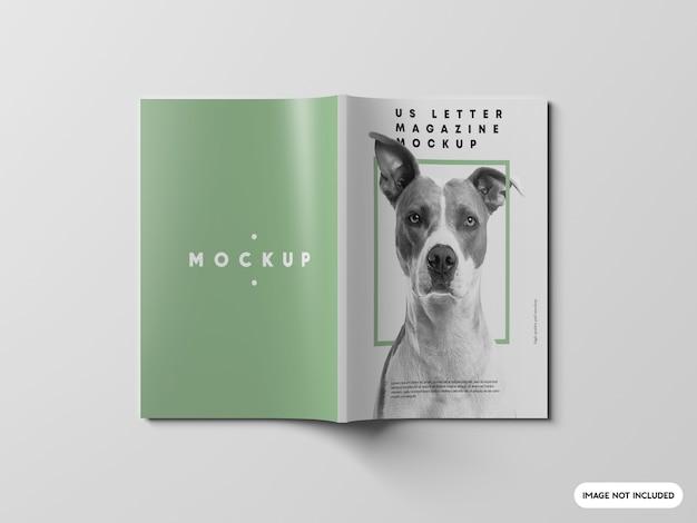 Primo piano sul modello di rivista di lettere