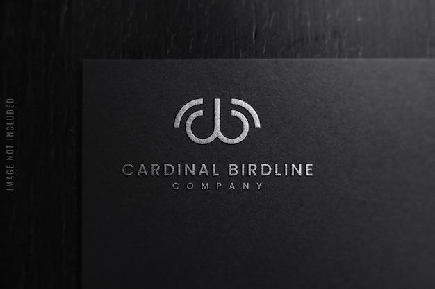 Primo piano del logo di lusso mockup