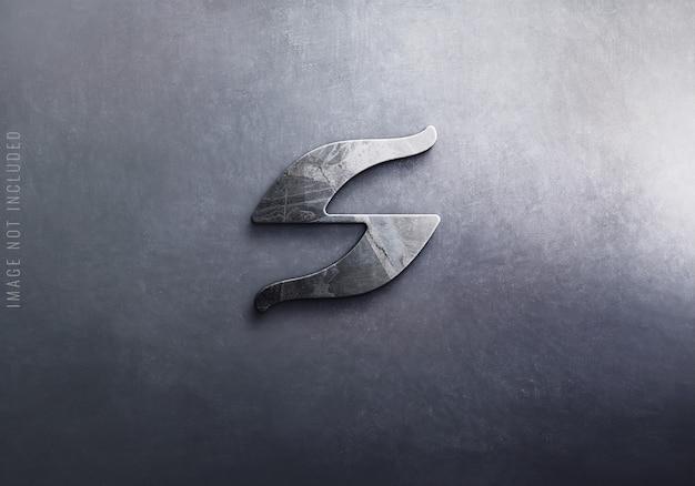 Primo piano sul logo di lusso mockup