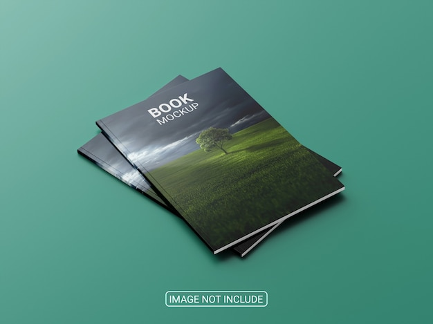 Primo piano su rivista o brochure mockup