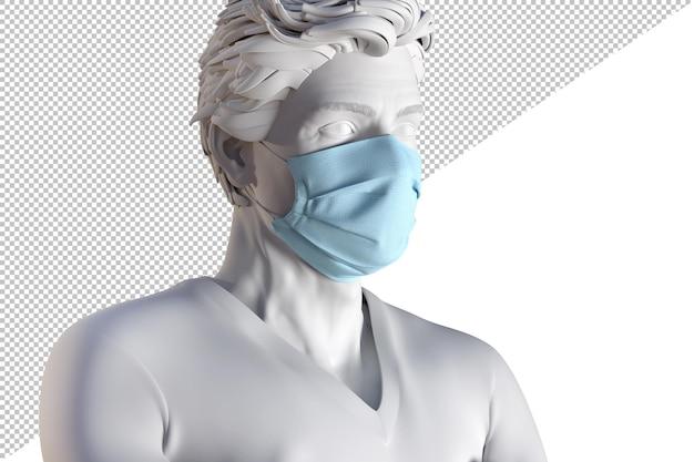 Primo piano di un uomo in una maschera protettiva