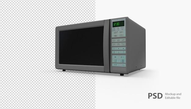 Primo piano sul forno a microonde isolato