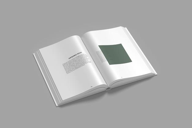 Primo piano sul mockup del libro aperto isolato