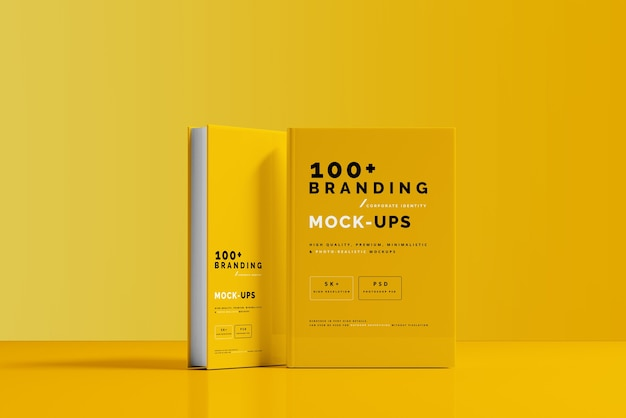 Primo piano sulla confezione del mockup di copertina del libro